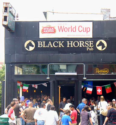 exterior of black horse pub
